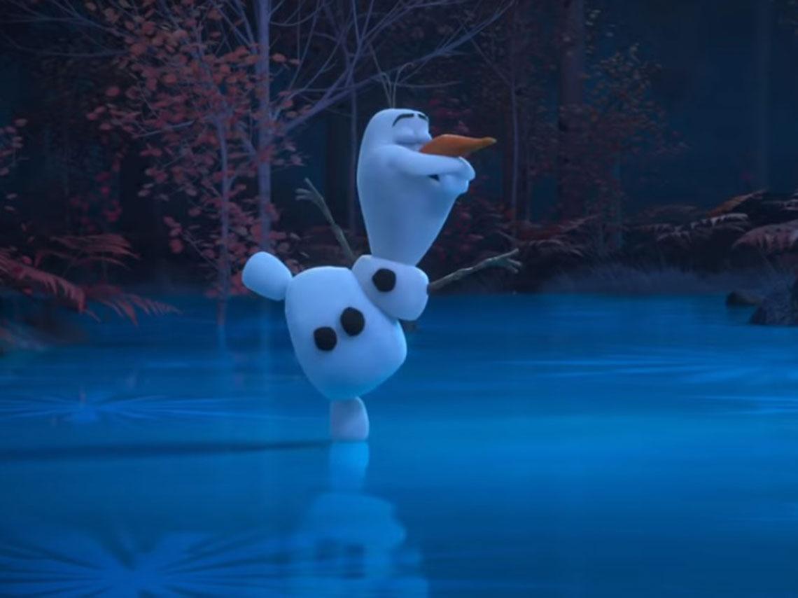 muñeco de nieve dibujo animado