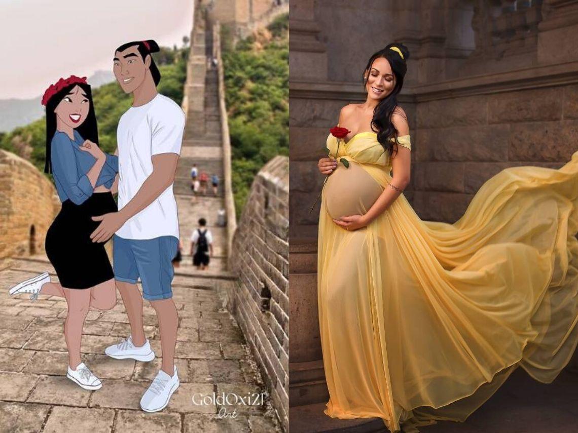 princesas disney embarazadas
