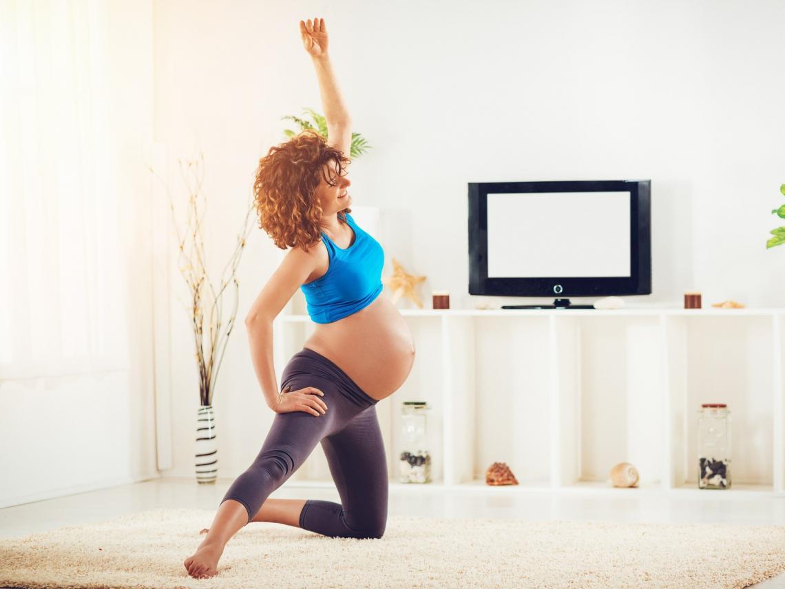 Estiramientos en el embarazo