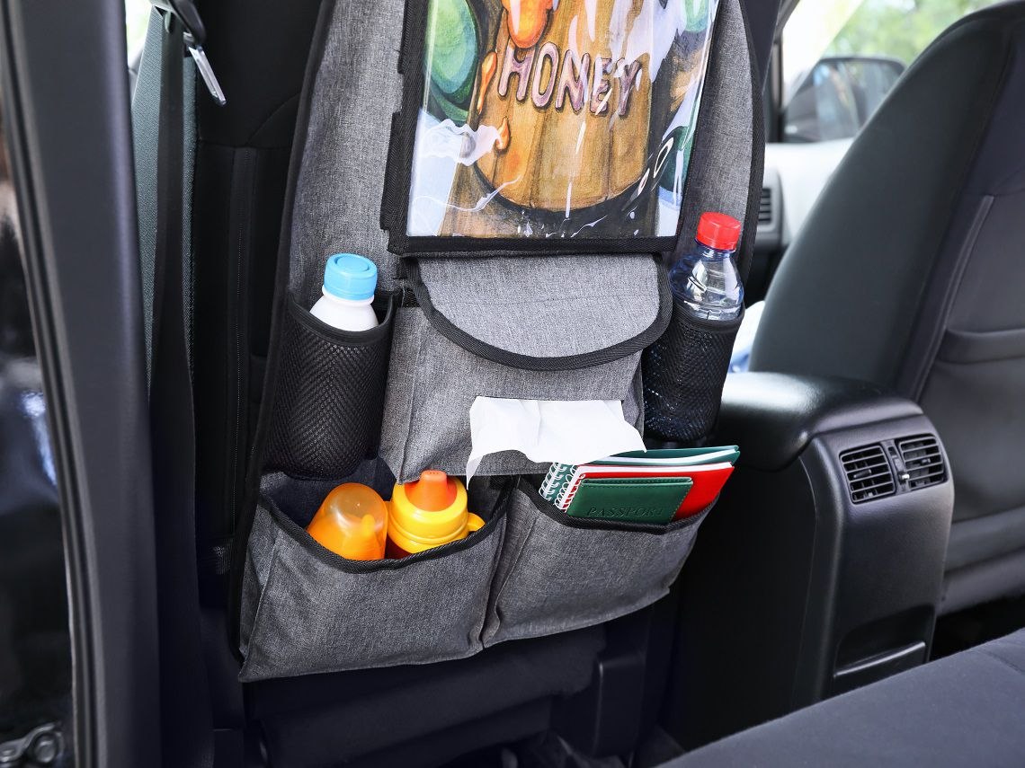 Organizador para asiento delantero