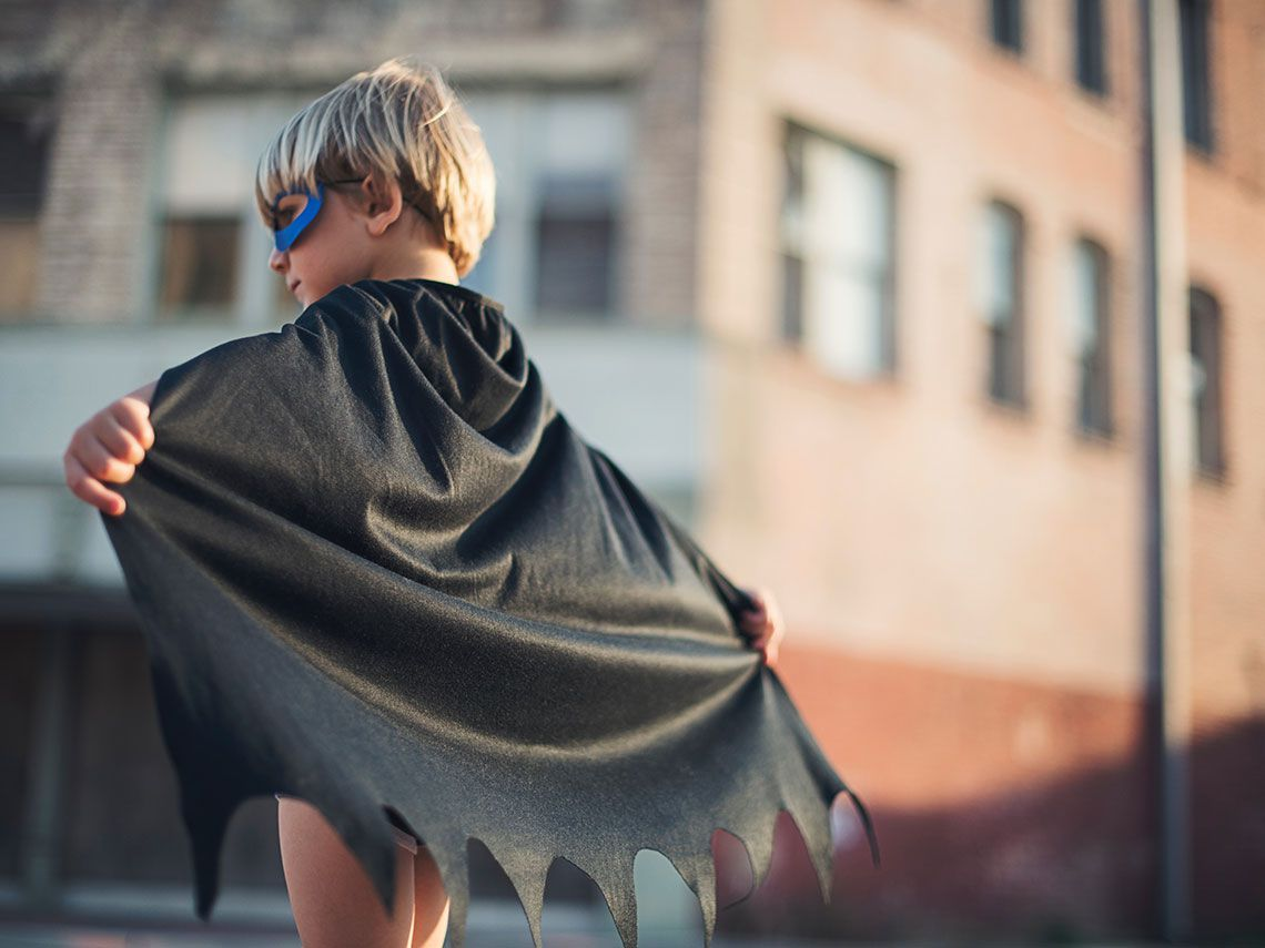 niño disfraz casero batman