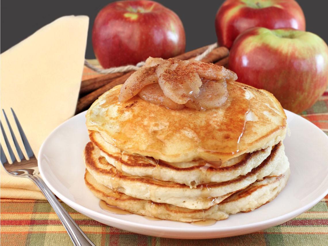 Tortitas de manzana y canela