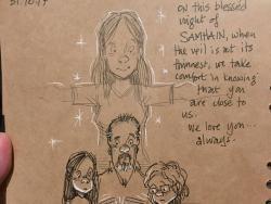 Un ilustrador de Disney dibuja la vida con sus 2 hijos tras la muerte de su mujer, y te partirá el corazón