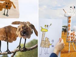 ¿Cómo serían las cosas en la vida real si fueran como las dibujan los niños?