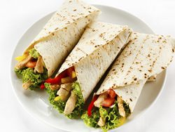 Burrito vegetariano de desayuno