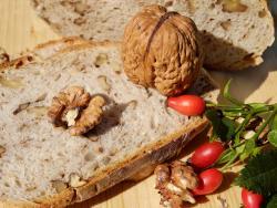 Receta de pan con nueces y pasas