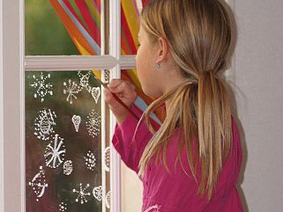 Adornos navideños para las ventanas