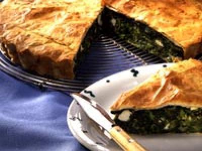 Tarta de queso y espinacas