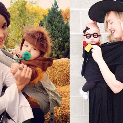 Más de 40 ideas para disfrazarte con tu hijo sin abandonar el porteo