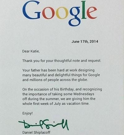 Y Google le concede vacaciones