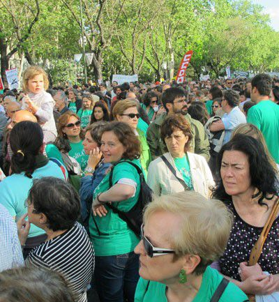 La manifestación de Madrid reunió a miles de personas