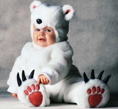 Disfraz de oso para bebé