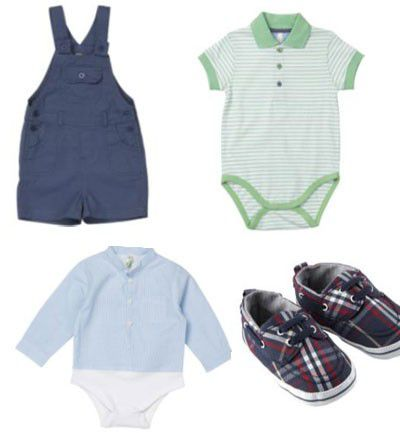 Camisas mil rayas y petos para bebés
