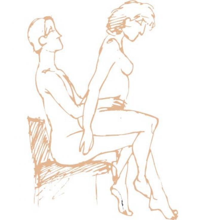 En una silla