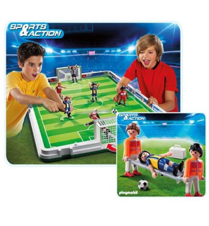 Set de fútbol Maletín de los Clicks. Playmobil