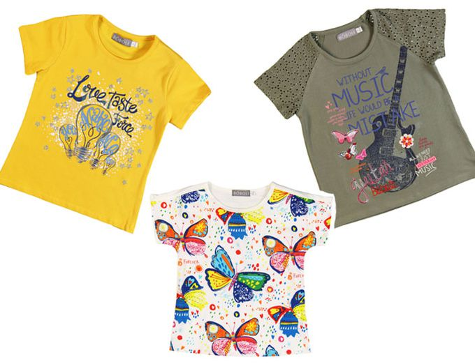 Camisetas coloridas y divertidas de Bóboli