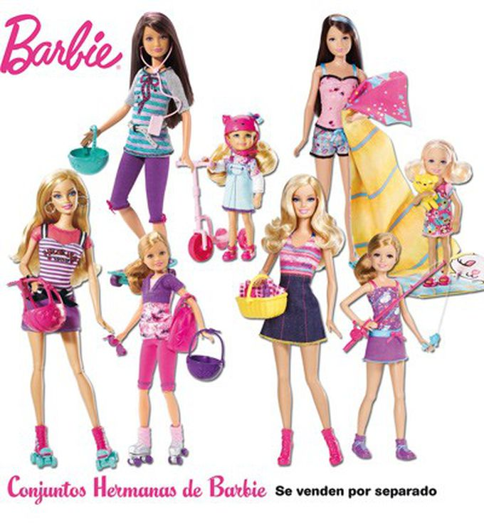 Barbie y sus hermanas de Mattel