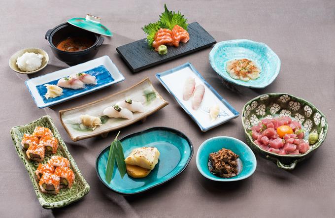 Una cena deliciosa japonesa
