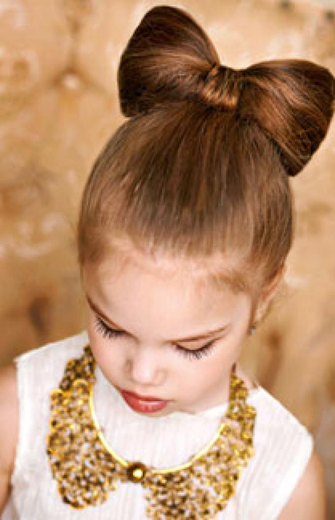 peinado lacito chic - Peinados Nios