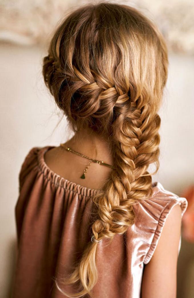 Peinados Para Ninas Para Una Ocasion Especial Peinado Espiga Candy - Ver-peinados-para-nia