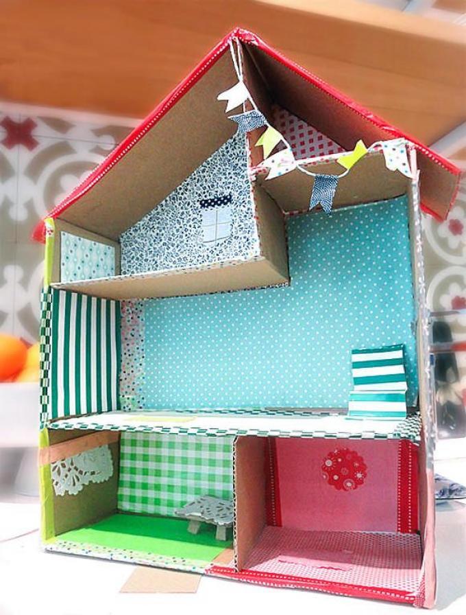 Una casa muy colorida