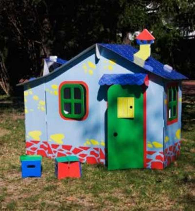 Casitas de cartón para niños - Casa grande Mega Guay