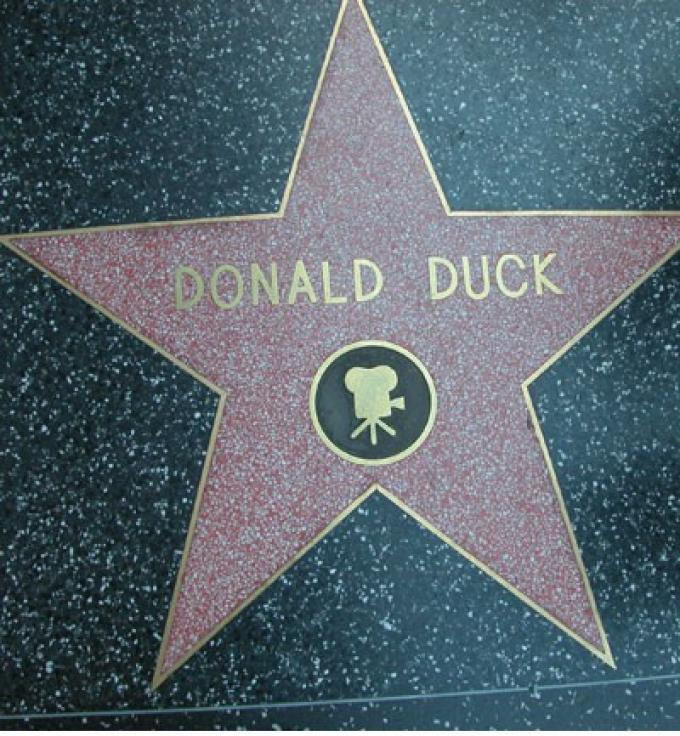 El Pato Donald, en las estrellas