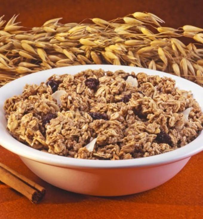 Avena y cereales con fibra