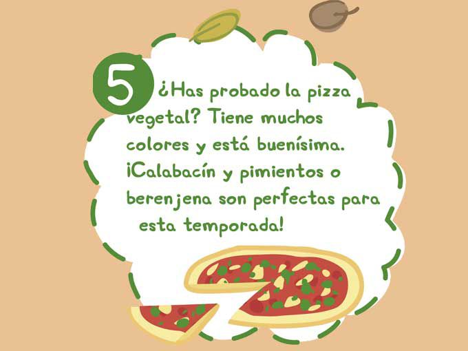 Pizza vegetariana... ¡ñam!