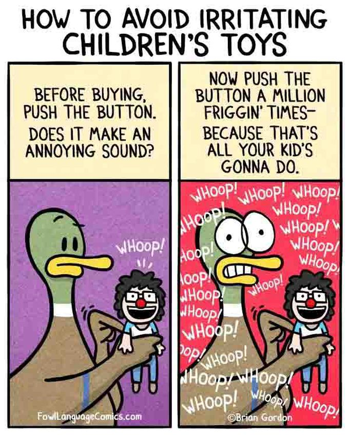Esos molestos juguetes sonoros