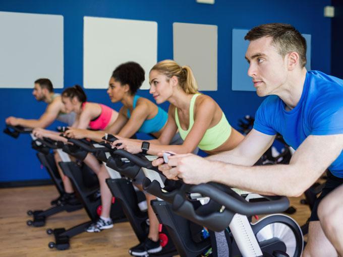 Spinning, baile y actividades aeróbicas