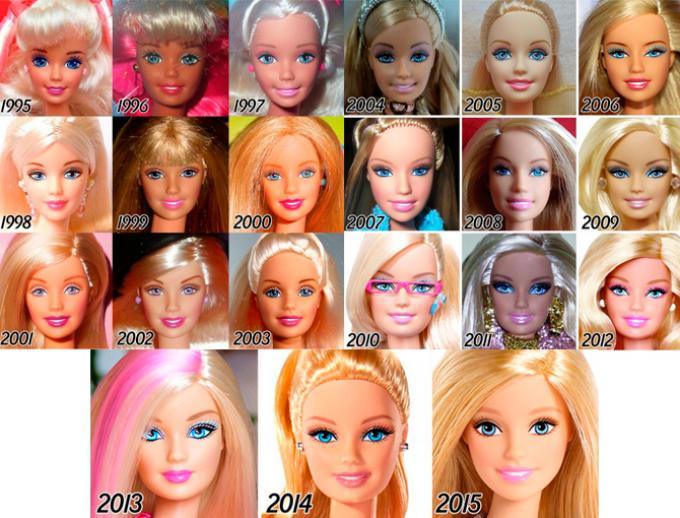 Barbie desde 1995 hasta 2015