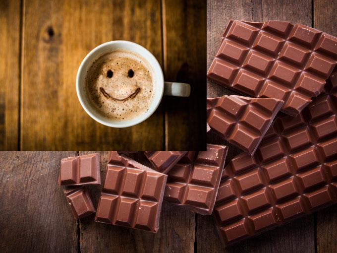 El chocolate y la cafeína