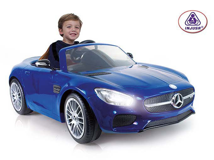 Categoría de Vehículos Montables de Gran Tamaño: Coche Mercedes AMG GT 6V, de INJUSA