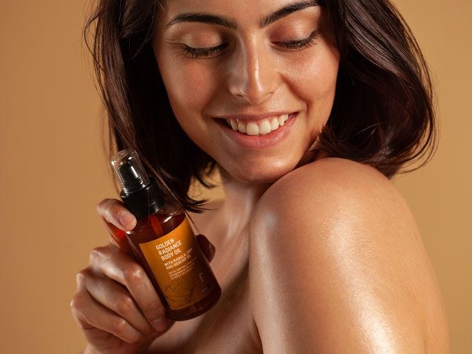 Golden Radiance Body Oil de Freshly Cosmetics