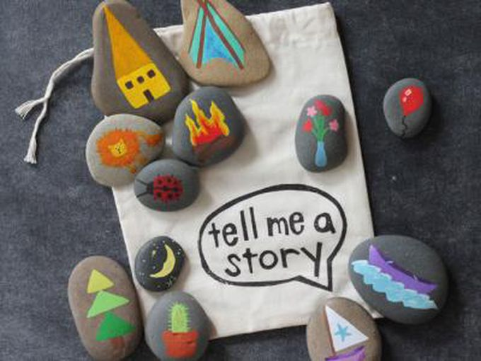 Pintar piedras para contar historias
