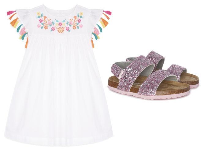 Moda infantil: bordados florales