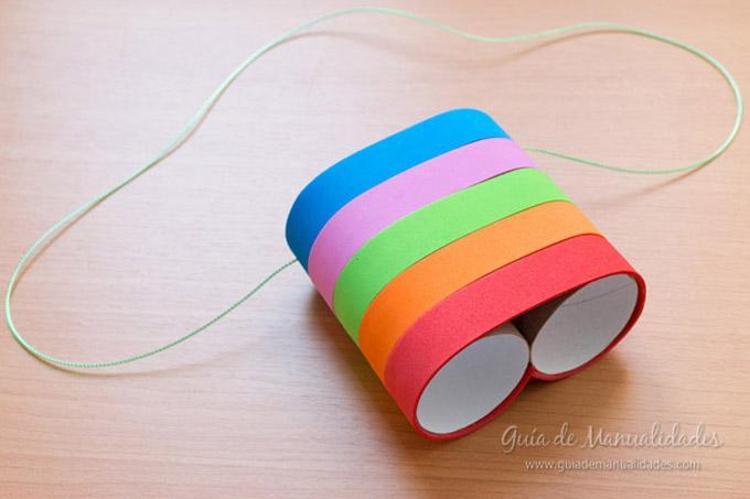 ¿Unos primáticos con rollos de papel?