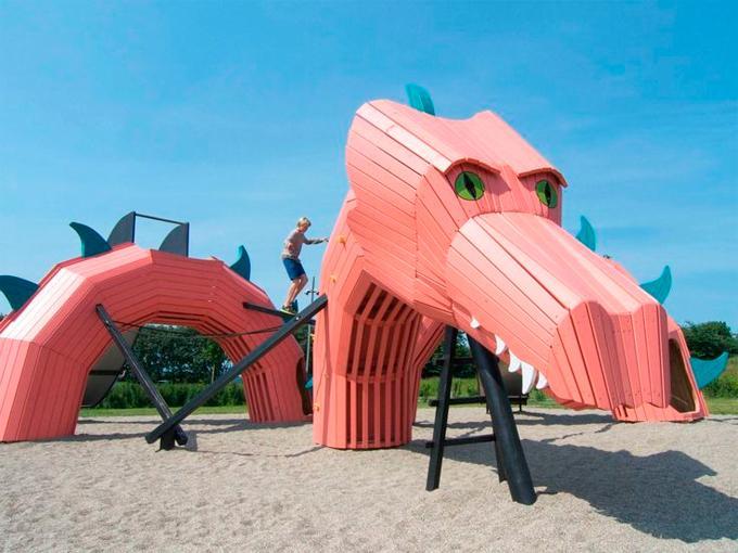 El parque infantil Dragon, Mulighedernes Park, Dinamarca