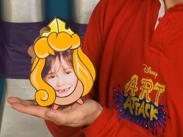 Manualidades: marco de fotos de princesa Disney
