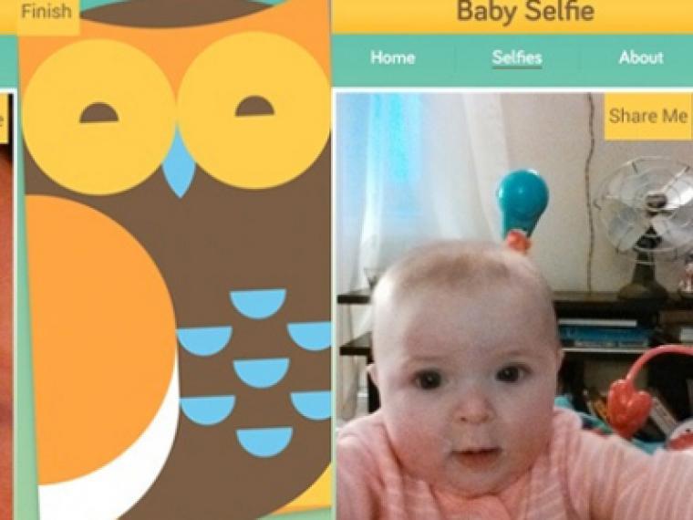 """Los bebés ya pueden hacerse """"selfies"""""""