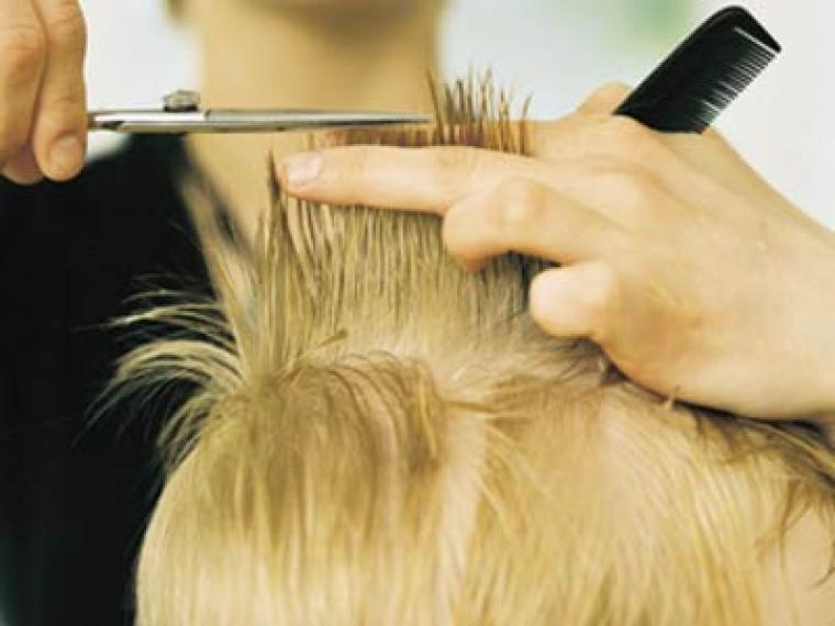 A la peluquería con el niño