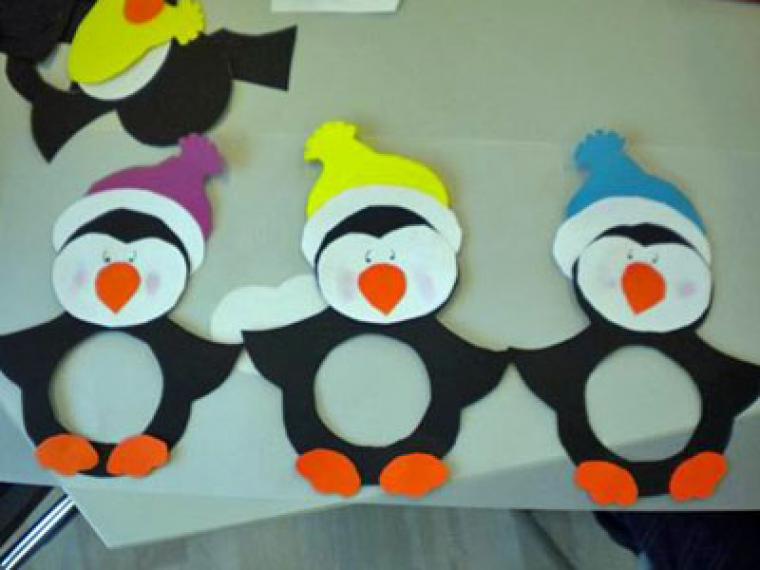 Pingüino de cartulina paso a paso
