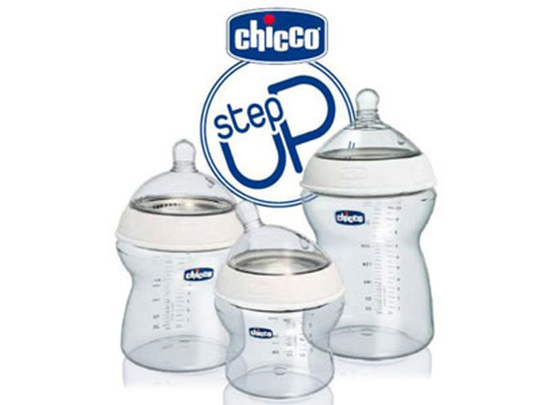 Los biberones Step Up de Chicco evolucionan con el bebé