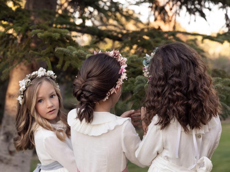 7 ideas de peinados de niña para su Primera Comunión