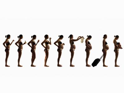 Cambios en la mujer, mes a mes
