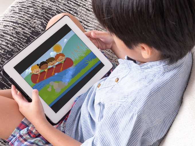 El 61% de los menores de 5 años ven dibujos en la tablet