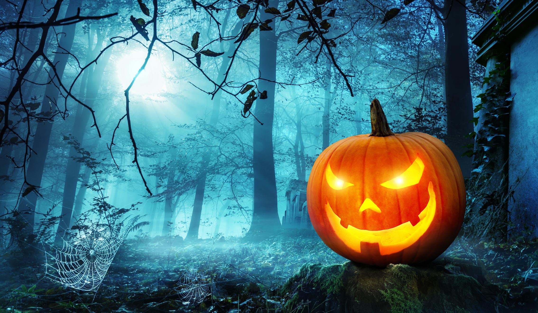 Actividades terroríficas y juegos de miedo para Halloween - Calabaza con cara de bruja