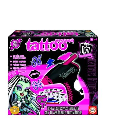 Aerograph Tattoo Monster High. Educa Borrás