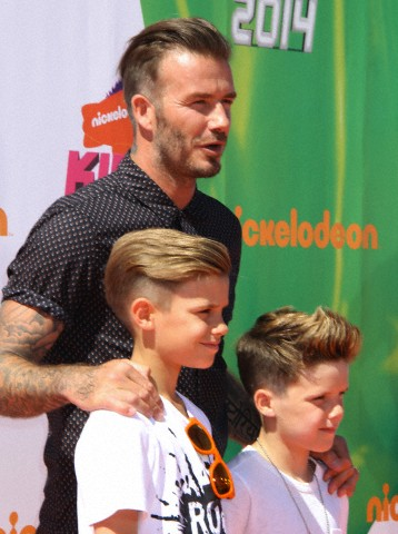 David Beckham, todo un padrazo